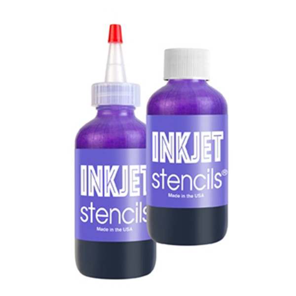 Stencils Bottle by Inkjet
