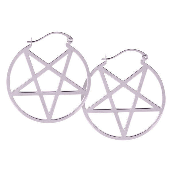 Mini Pentagram Hoops