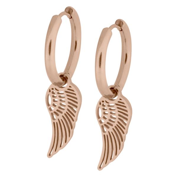 Little Angel Wing Hoops