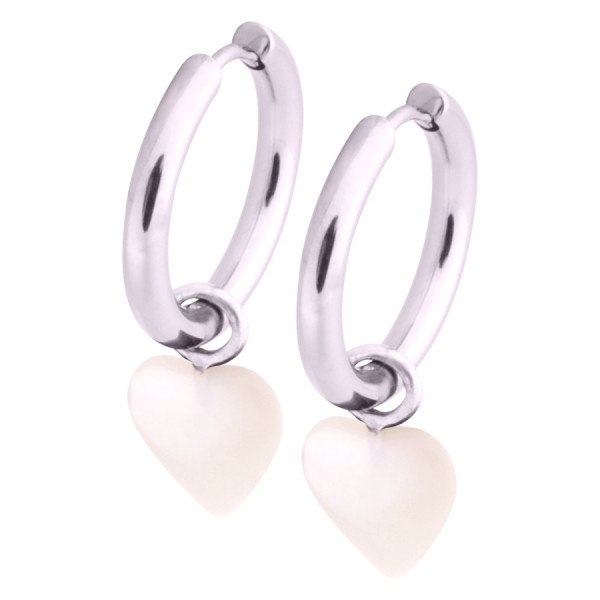 Little Heart Hoops White