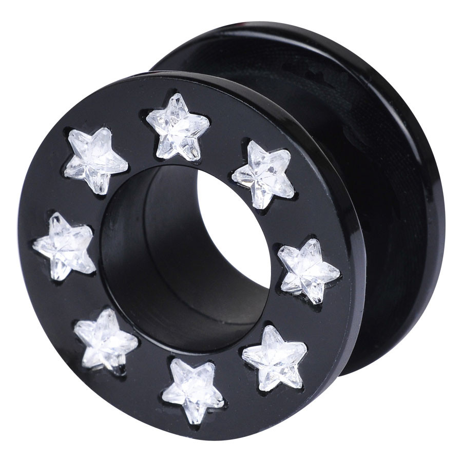 Black Acrylic Jewelled Star Tunnel