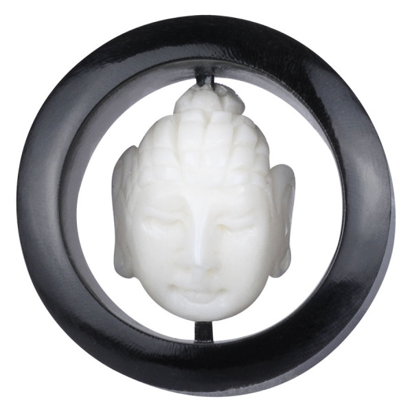 Buddha Buffalo Horn & Bone Inlay Plug