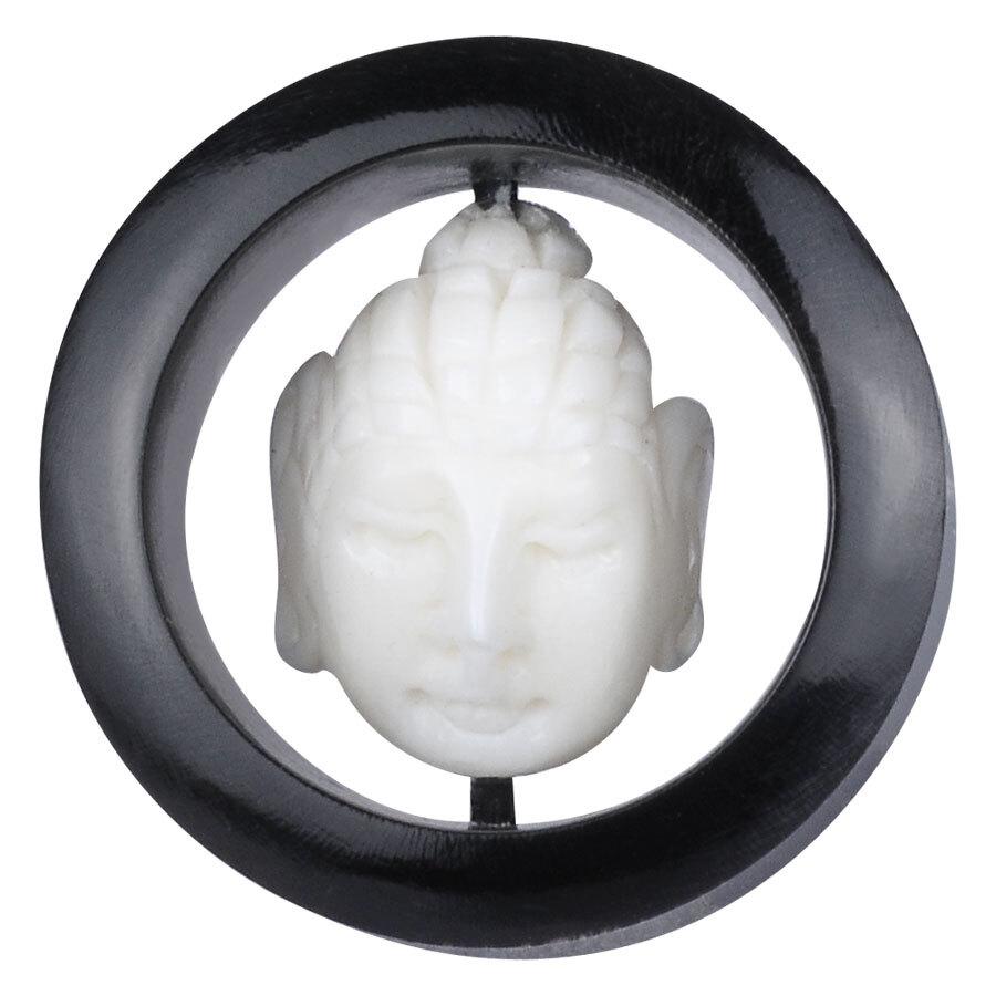 Buddha Buffalo Horn & Bone Inlay Plug