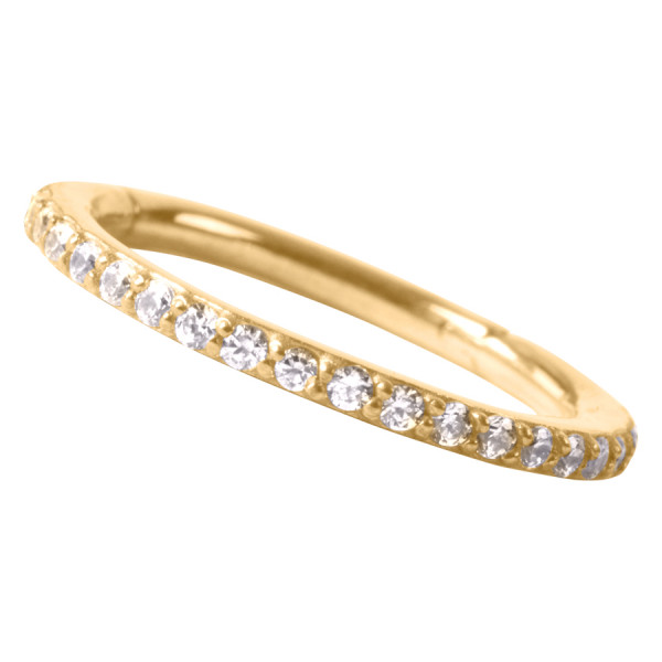 18k Echtgold Pave Set Ring