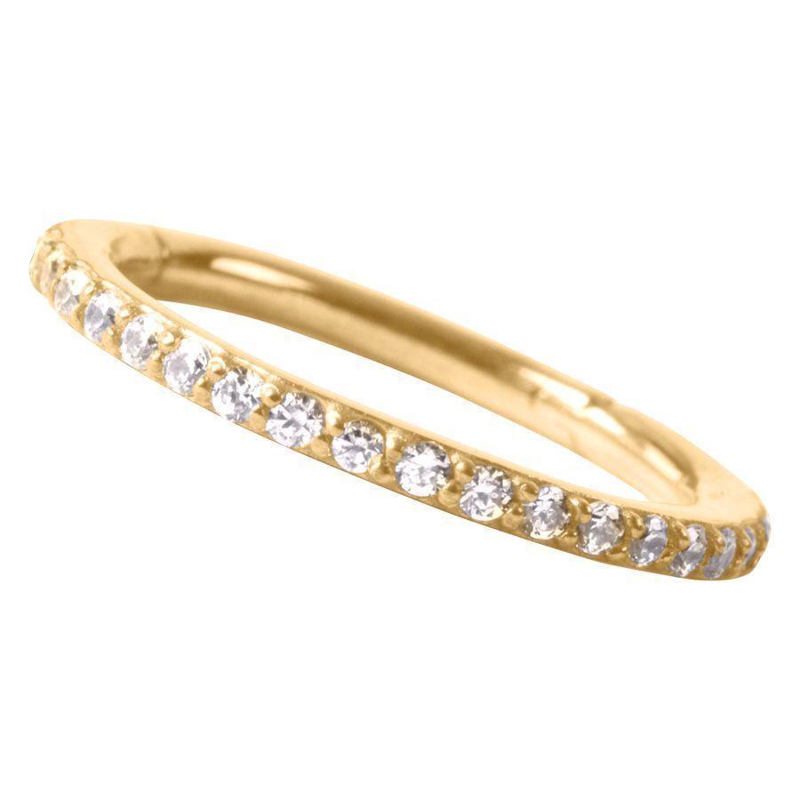 18k Echtgold Pave Set Ring