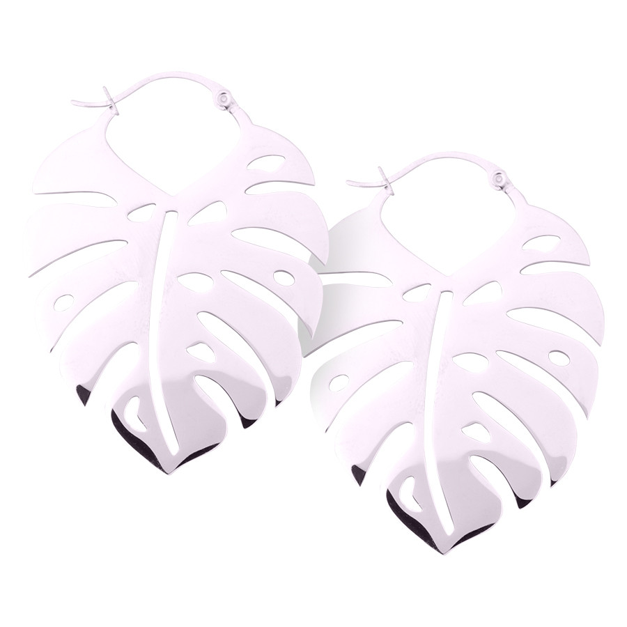Monstera Leaf Hoops