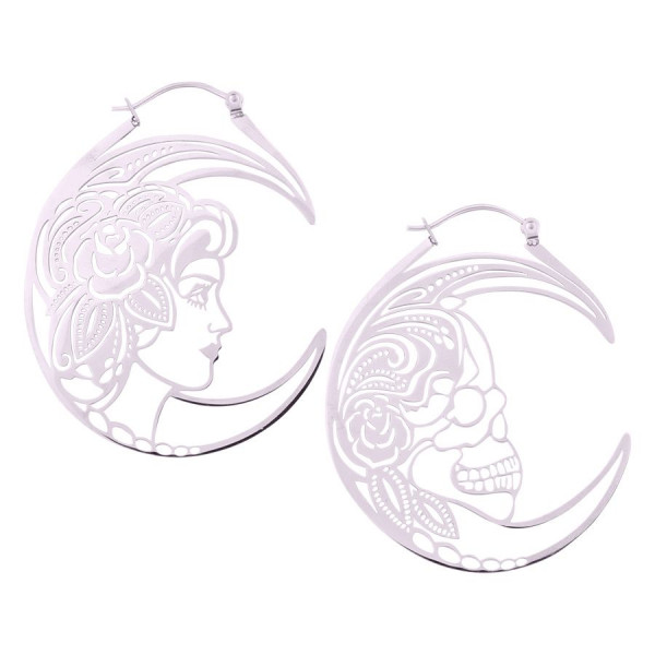 Skull Couple Hoops