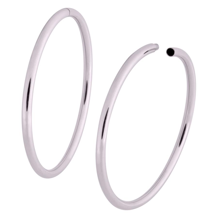 Hollowed Hoop Ring