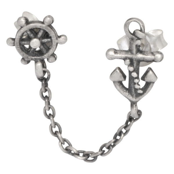 Steel Basicline® - Matt Ear Chain Anker