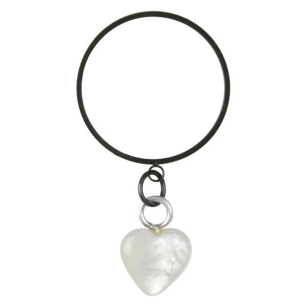 Steel Blackline® - X-Change Nacre Heart