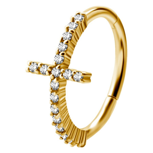 Jewelled Cross Ring