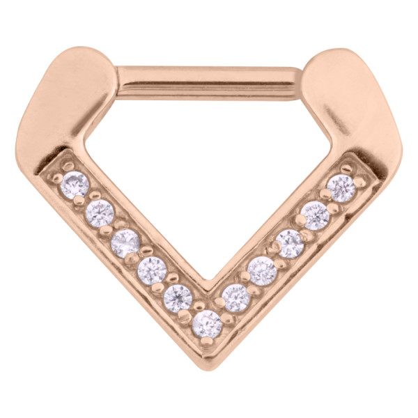 Jewelled Triangle Septum Clicker