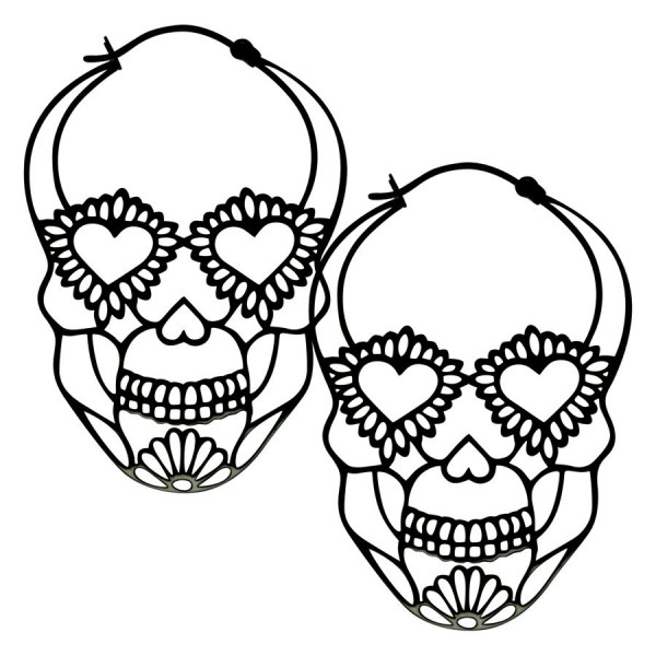 Sugarskull Hoops