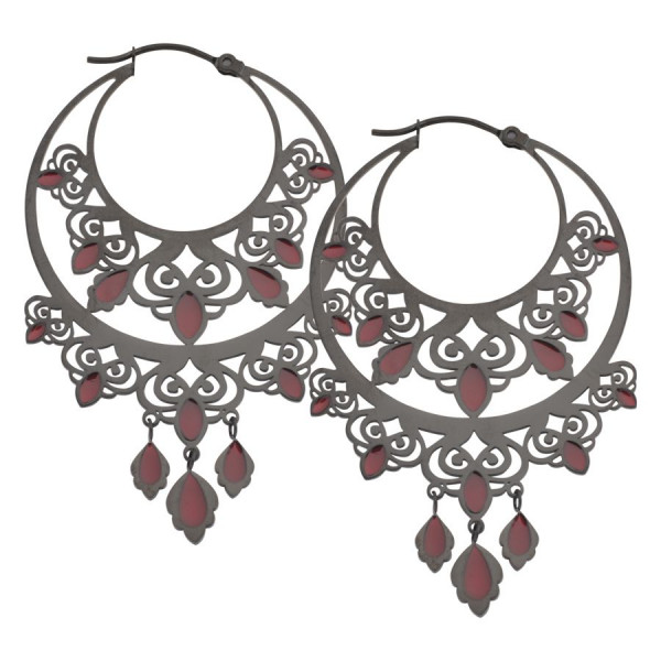 Damascus Hoops Red filled