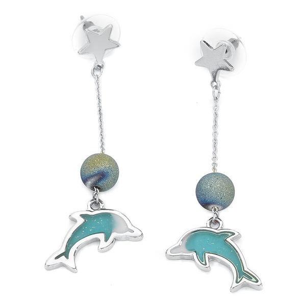 Dolphin Earstuds