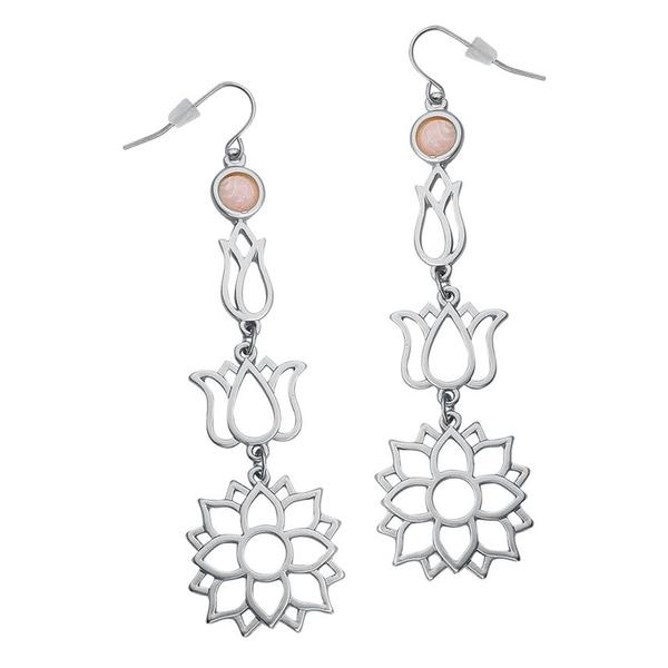 Peachy Flowers Earrings