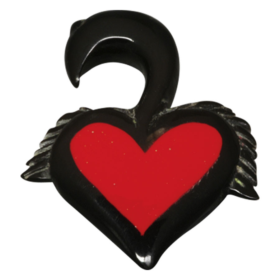 Buffalo Horn Drop Heart