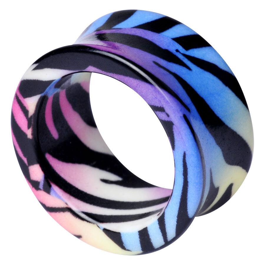 Acrylic Print Tunnel Rainbow Zebra