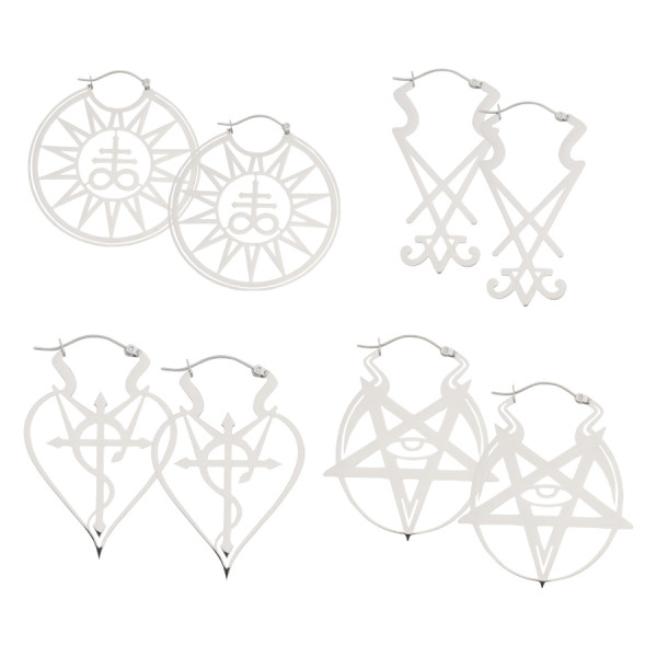 Wicca Hoops Set Silver