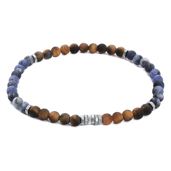 Anchor Lava Stone Bracelet
