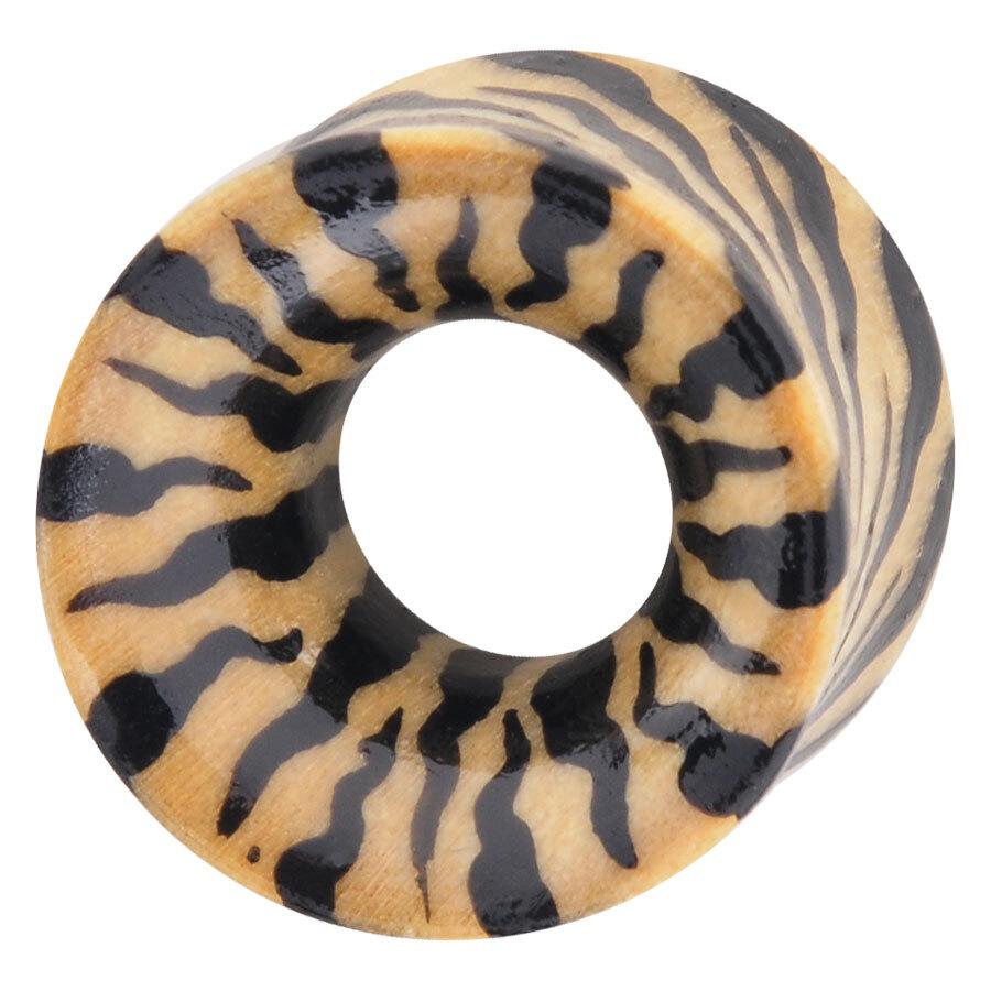 Organic Wood painting Eartunnel Zebra