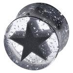 Glitter Black Star Plug