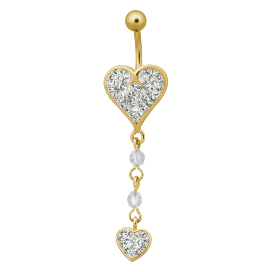 Double Heart Dangle