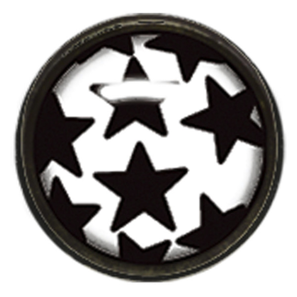 "Titan Blackline® Internally Threaded Ikon Disk ""Black Stars on White"""