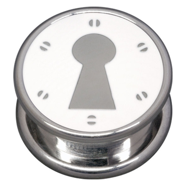 Steel Basicline® Impression Cannister White Keyhole