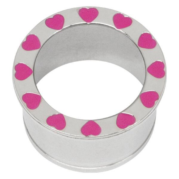 Steel Basicline® Halo Pink Hearts Eyelet