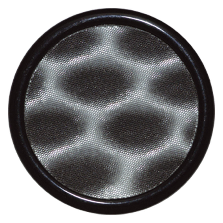PMMA Honeycomb Plug mit Inlay Schwarz