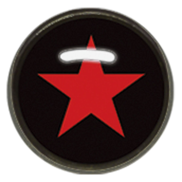 "Titan Blackline® Internally Threaded Ikon Disk ""Red Star on Black"""