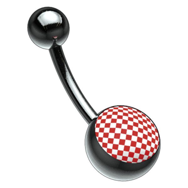 Titan Blackline® Picturebell Chessboard Red/White