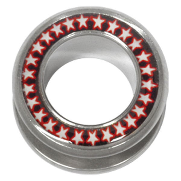 Steel Basicline® Halo Flesh Tunnel Stars