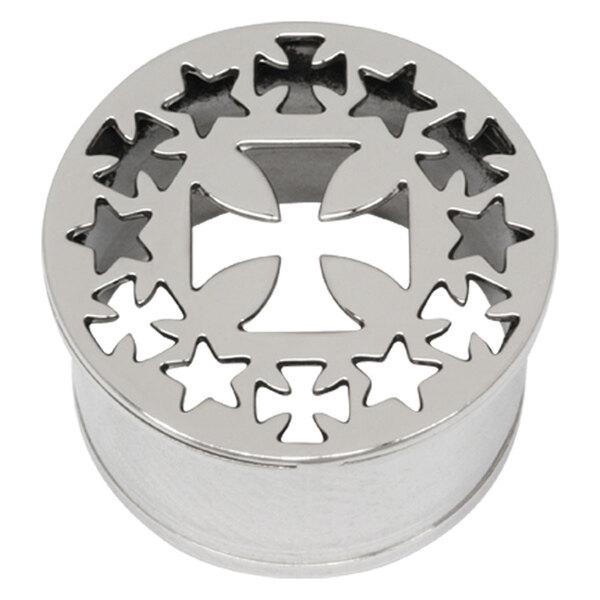 Steel Basicline® Impression Eyelet Cross and Crosses/Stars