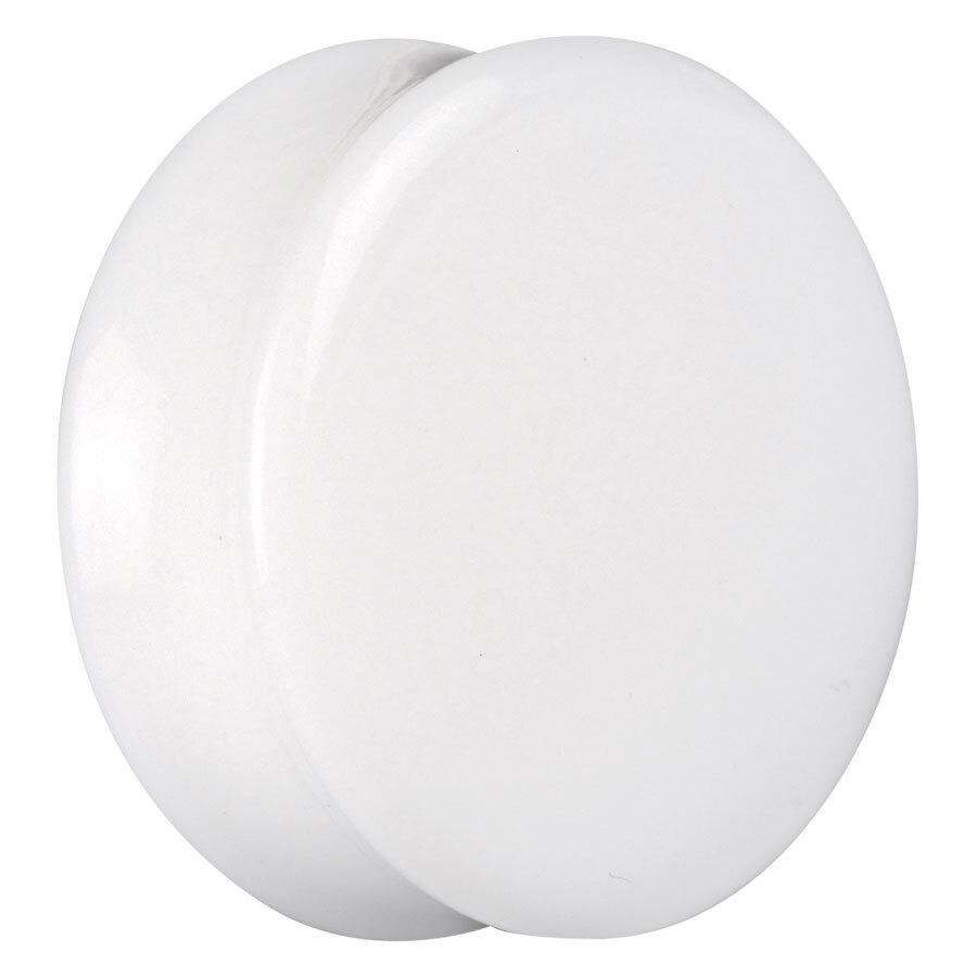 White Acryl Flared Plug