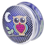 "Hand Painted Printing Plug ""Night Owl"""