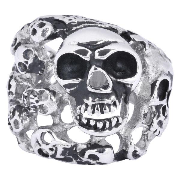 Steel Basicline® Skulls Ring