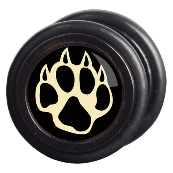 Steel Blackline® - Pawprint right