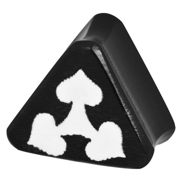 Triangle Design Buffalo Horn Plug