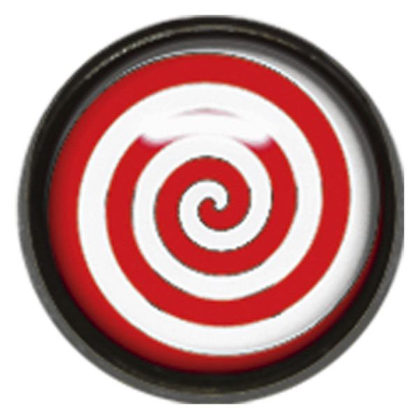 "Titan Blackline® Internally Threaded Ikon Disk ""Red White Spiral"""