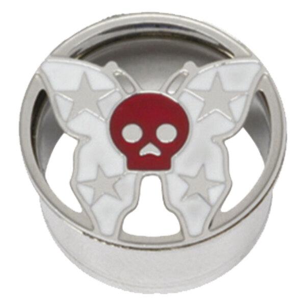 Steel Basicline® Impression Eyelet Skull Butterfly