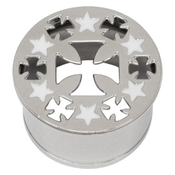 Steel Basicline® Impression Eyelet Cross and Stars/Crosses