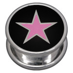 Steel Basicline® Impression Cannister Pink Star
