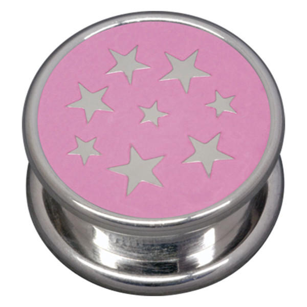 Steel Basicline® Impression Cannister Pink Stars