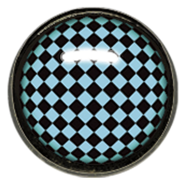 "Titan Blackline® Internally Threaded Ikon Disk ""Black Turquoise Chessboard"""