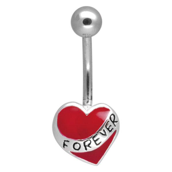Steel Basicline® Forever Heart Navel Bananabell