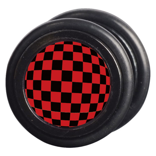 Steel Blackline® - Checkered Black & Red