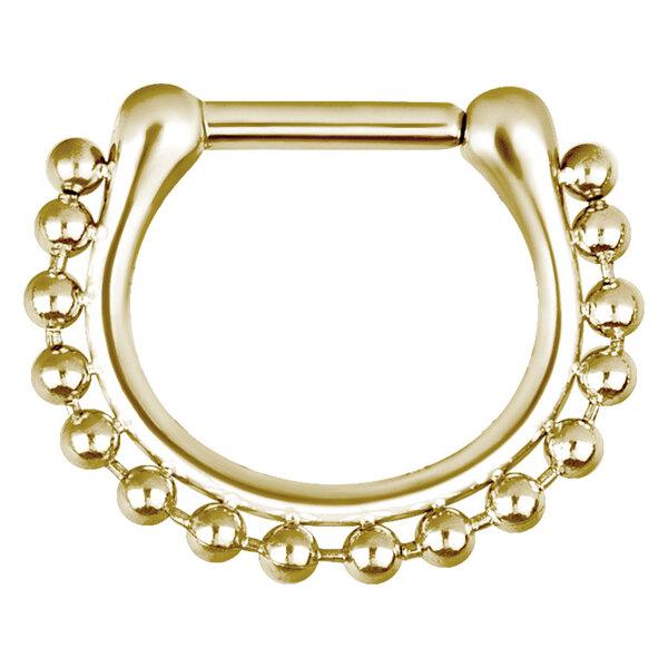 Steel Zirconline® - Hinged Septum Shiny Chain