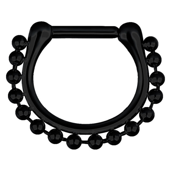 Steel Blackline® - Hinged Septum Shiny Chain